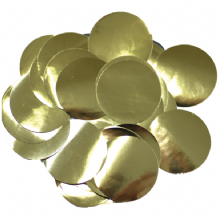 Metallic Gold Foil Confetti | 25mm Metallic Round | 50g Bag